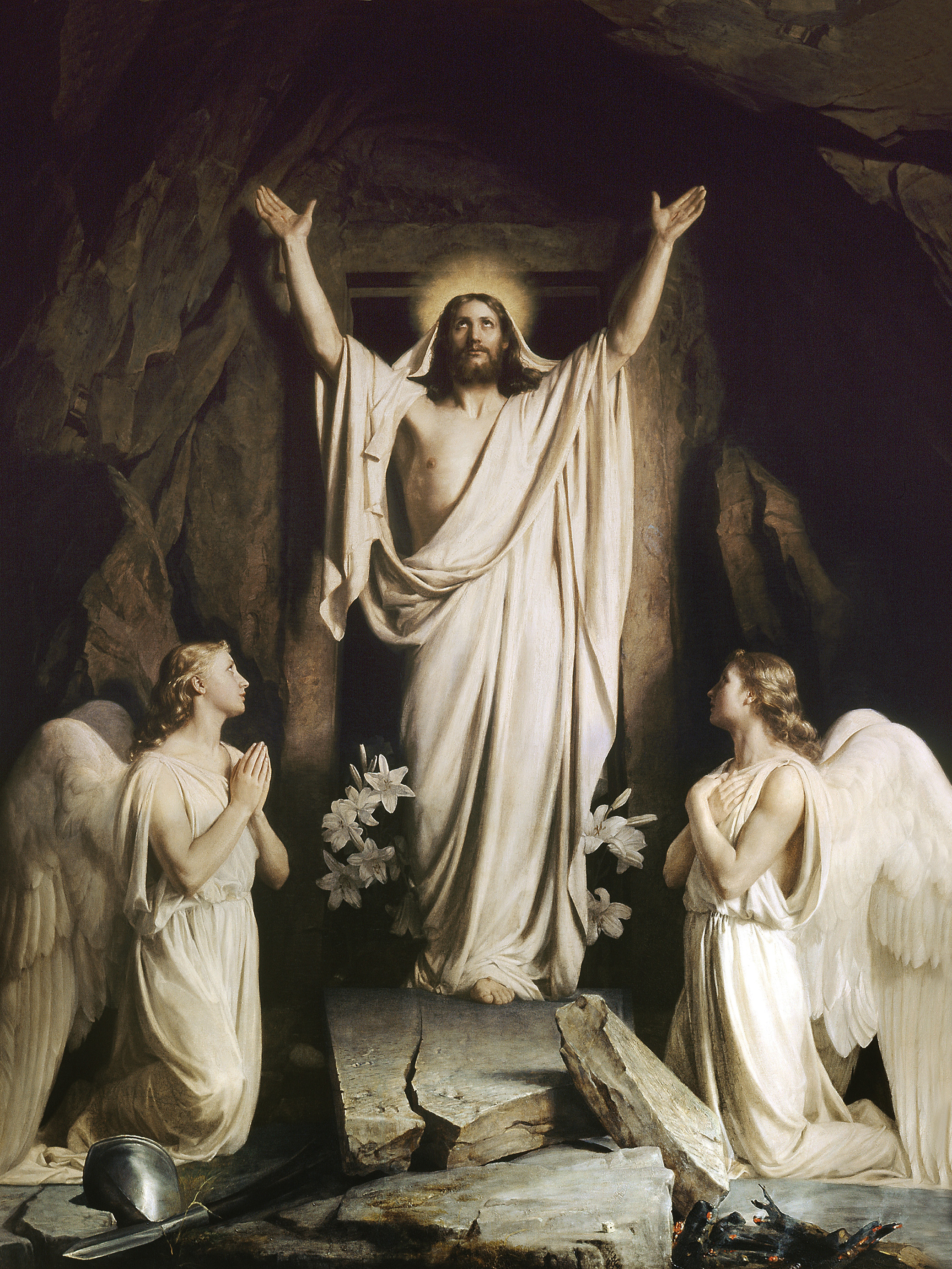 Carl Heinrich Bloch, The Resurrection, 1873. Museum of National History on Frederiksborg Castle